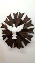 Promoção Espirito Santo Em Madeira  51 x 51 cm Raios Duplos