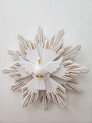 Espírito Santo De Madeira 40 cm com raios duplos