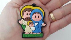 Kit 12 Chaveiros Emborrachados  Sagrada Família