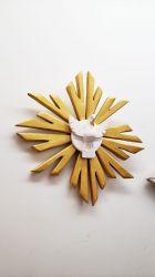 Lindo Divino em Madeira 31 x 31 cm - Pintura Dourada