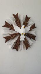 Divino Espírito Santo De Madeira - 51 Cm com raio duplos