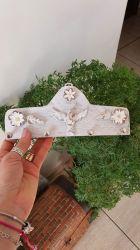 Porta Chaves em Madeira Espirito Santo 21 cm x 8 cm