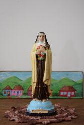 Linda Imagem Santa Terezinha 21 x 06 cm em Gesso